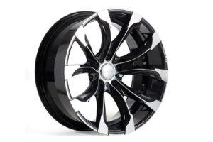 wald j11c wheel 22 24 diamond black black polish