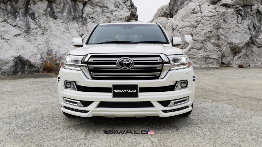 wald toyota land cruiser front spoiler sports line 2016 2017 2018