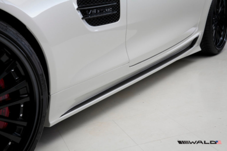 wald mercedes benz c190 amg gt gts black bison side skirt 2015 2016 2017 2018