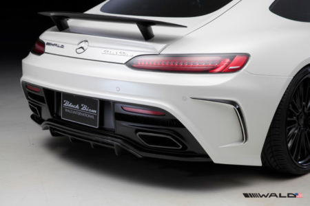 wald mercedes benz c190 amg gt gts black bison rear bumper 2015 2016 2017 2018