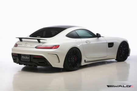wald mercedes benz c190 amg gt gts black bison body kit rear angle 2015 2016 2017 2018
