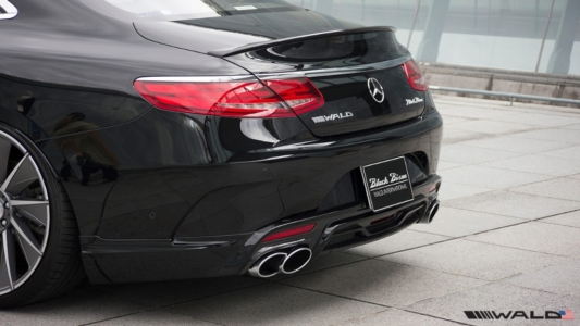 wald mercedes benz c217 w217 s class coupe s550 s63 s65 black bison body kit rear apron lip trunk spoiler wing 2015 2016 2017