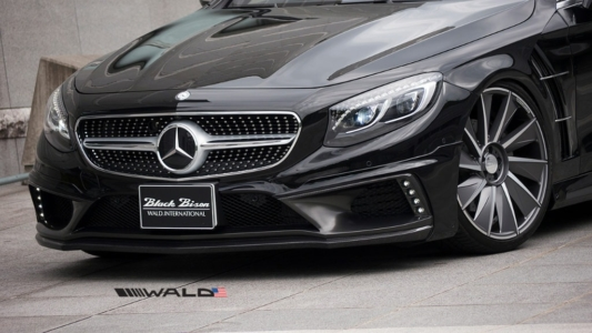 wald mercedes benz c217 w217 s class coupe s550 s63 s65 black bison body kit front apron 2015 2016 2017
