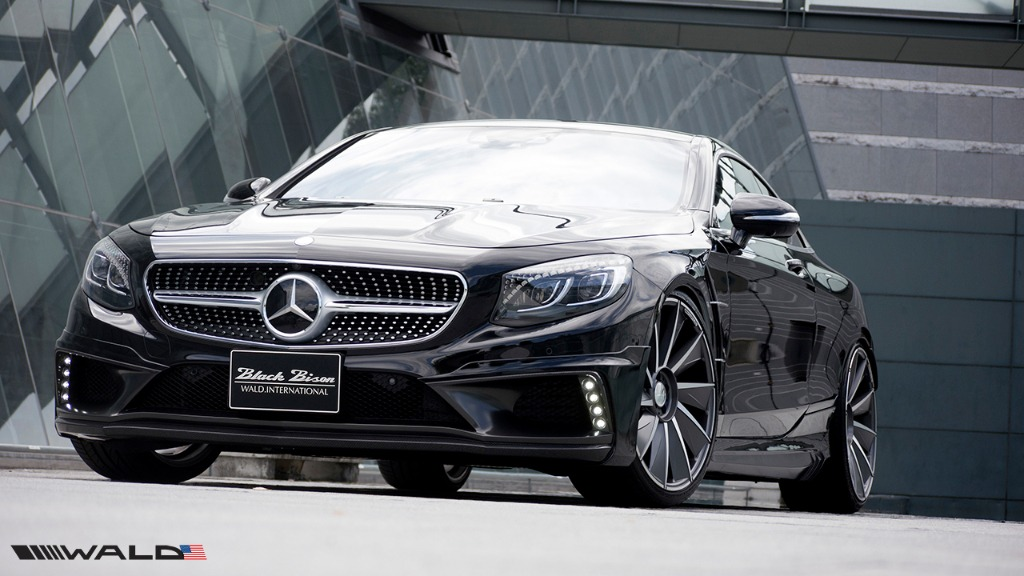 wald mercedes benz c217 w217 s class coupe s550 s63 s65 black bison body kit front 2015 2016 2017