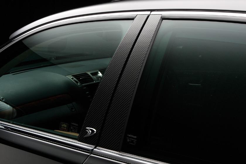 wald lexus ls460 ls460l ls600hl executive line carbon pillar panel 2010 2011 2012
