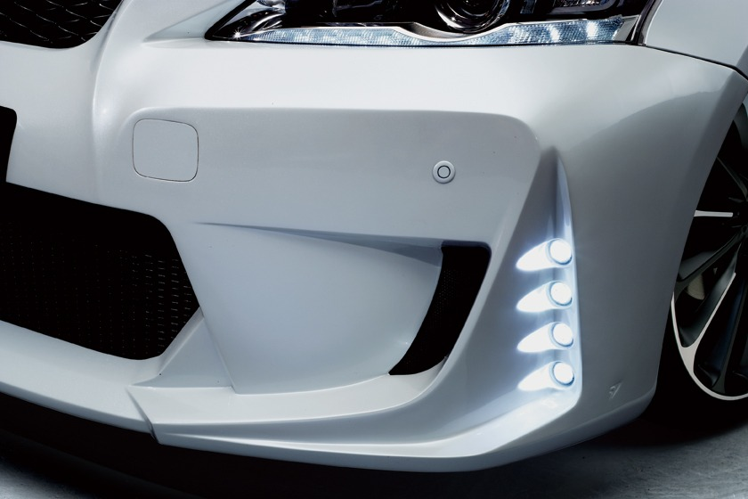 wald lexus ct200h ct ct200 black bison body kit front bumper led drl light lamp white 2011 2012 2013