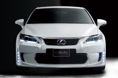 wald lexus ct200h ct ct200 black bison body kit front bumper led drl lamp light white 2011 2012 2013