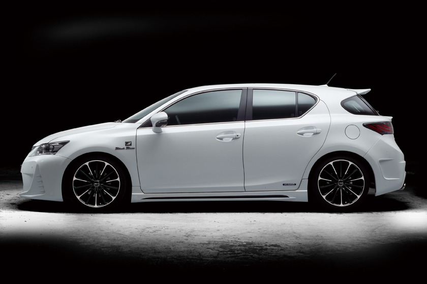 wald lexus ct200h ct ct200 black bison body kit side skirt set white p21c wheel rim 2011 2012 2013