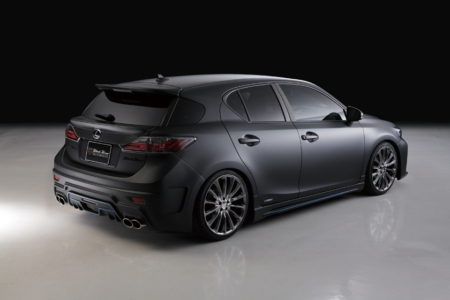 wald lexus ct200h ct ct200 black bison body kit rear bumper p21c wheel rim 2011 2012 2013