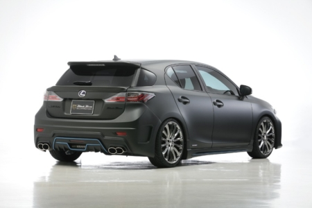 wald lexus ct200h ct ct200 black bison body kit rear bumper side skirt p21c wheel exhaust tip 2011 2012 2013