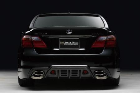 wald lexus ls460 ls460l ls600hl black bison rear bumper 2010 2011 2012