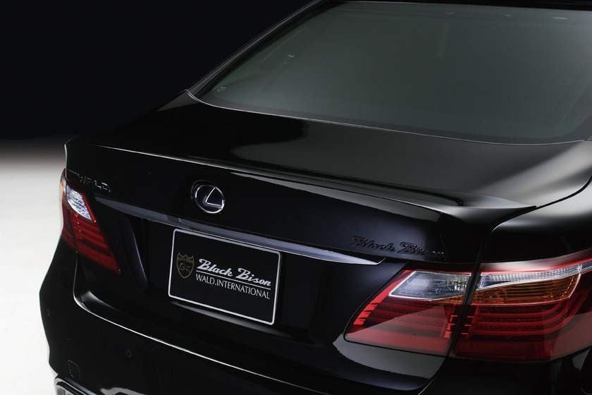 wald lexus ls460 ls460l ls600hl black bison rear trunk wing spoiler 2010 2011 2012