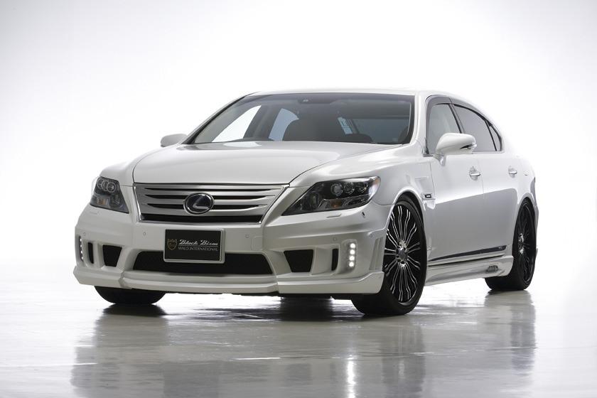 wald lexus ls460 ls460l ls600hl black bison body kit front angle 2010 2011 2012