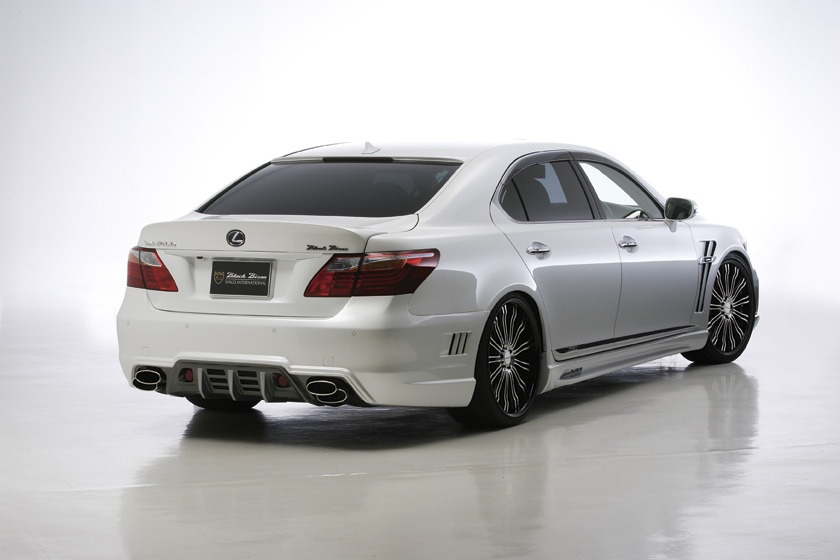 wald lexus ls460 ls460l ls600hl black bison body kit rear angle 2010 2011 2012