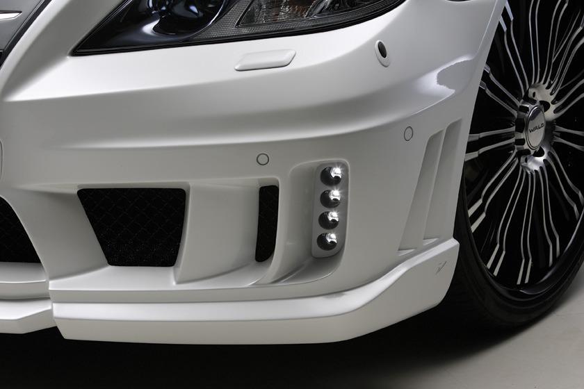 wald lexus ls460 ls460l ls600hl black bison front bumper led 2010 2011 2012