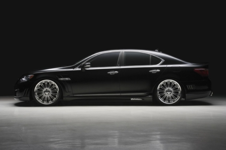 wald lexus ls460 ls460l ls600hl black bison body kit side 2010 2011 2012