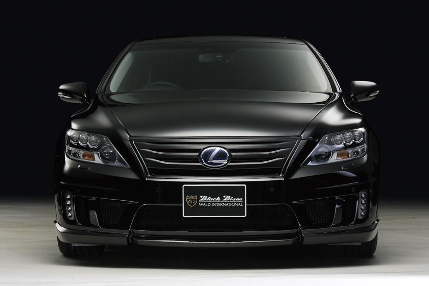wald lexus ls460 ls460l ls600hl black biso front bumper 2010 2011 2012