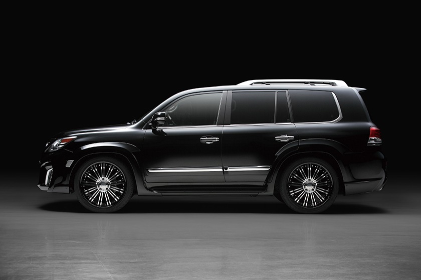 wald lexus lx570 black bison body kit side 2013 2014 2015