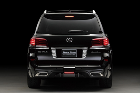 wald lexus lx570 black bison body kit rear 2013 2014 2015