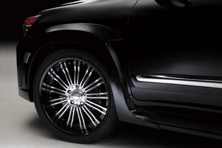 wald lexus lx570 black bison over fender R12 wheel 2013 2014 2015