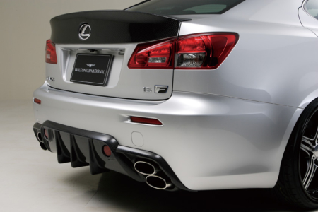 wald lexus isf black bison body kit rear bumper diffuser trunk wing spoiler carbon fiber 2008 2009 2010 2011 2012 2013 2014