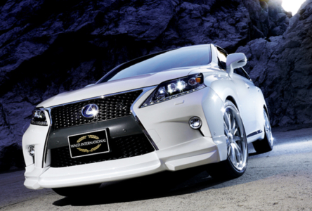 wald lexus rx350 f sport fsport executive line body kit front white 2013 2014 2015