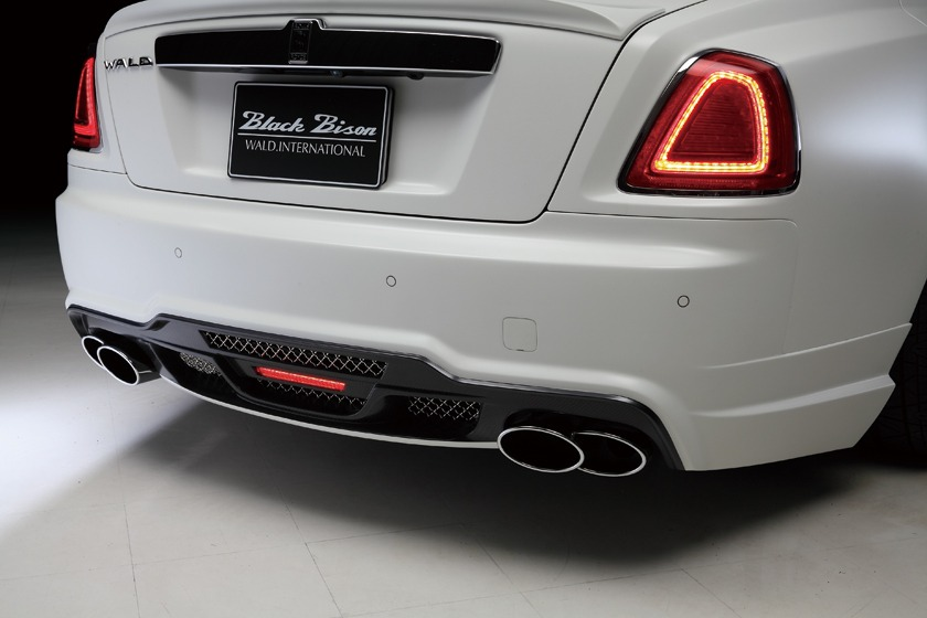 wald rolls royce ghost black bison edition rear bumper 2010 2011 2012 2013 2014