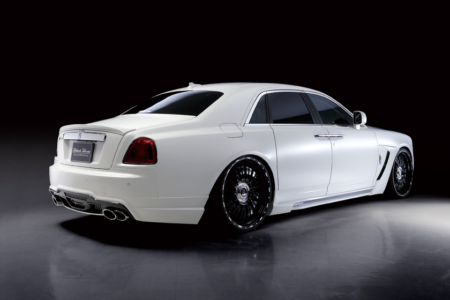 wald rolls royce ghost black bison edition body kit rear angle 2010 2011 2012 2013 2014