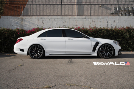 wald mercedes benz w222 s550 s63 s65 black bison body kit side b11c 2014 2015 2016 2017