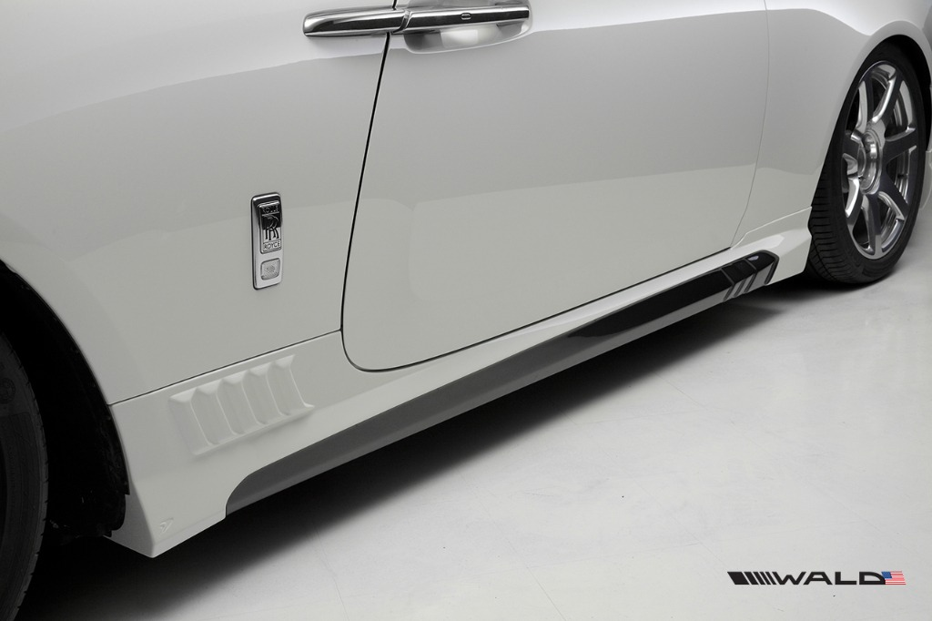 wald rolls royce wraith black bison edition side skirt 2014 2015 2016