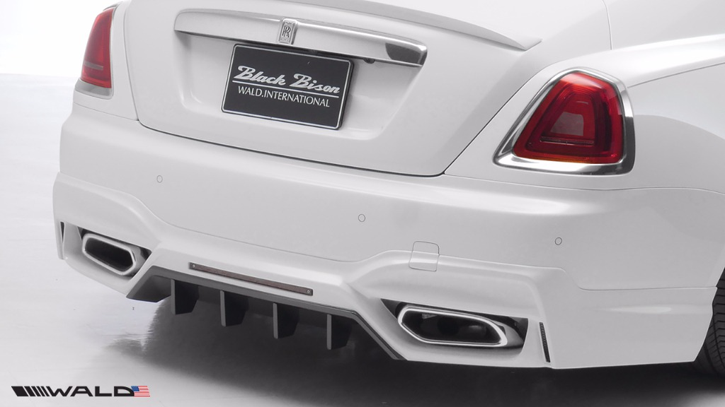 wald rolls royce wraith black bison edition rear apron 2014 2015 2016
