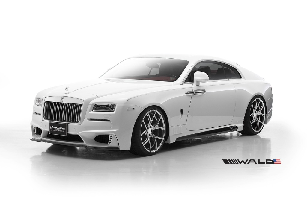 wald rolls royce wraith black bison edition body kit front angle view 2014 2015 2016