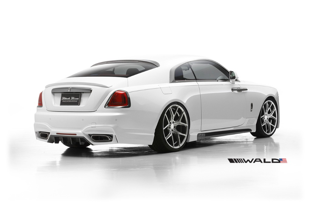 wald rolls royce wraith black bison edition body kit rear angle view 2014 2015 2016