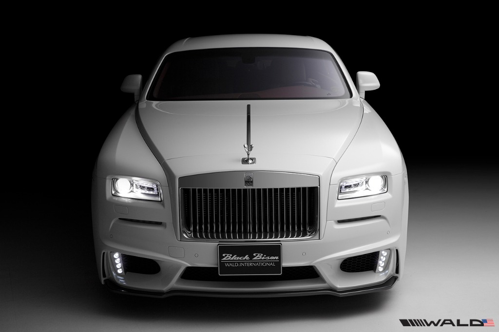 wald rolls royce wraith black bison edition front bumper 2014 2015 2016