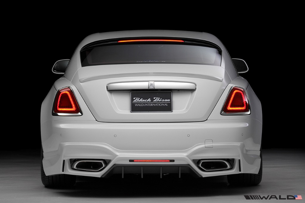 wald rolls royce wraith black bison edition rear bumper 2014 2015 2016