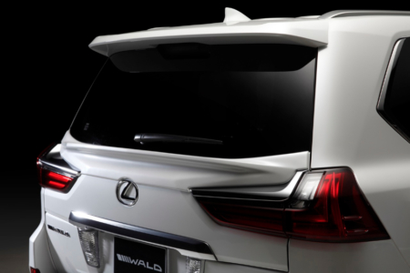 wald lexus lx570 sports line rear gate spoiler 2016 2017 2018