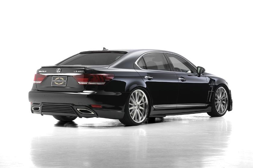 wald lexus ls ls460 ls460l ls600 ls600hl executive line body kit rear angle 2013 2014 2015 2016 2017