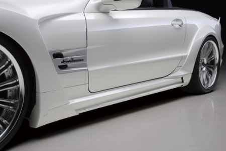 wald mercedes benz r230 sl500 sl550 sl55 sl63 black bison body kit side skirts 2009 2010 2011 2012