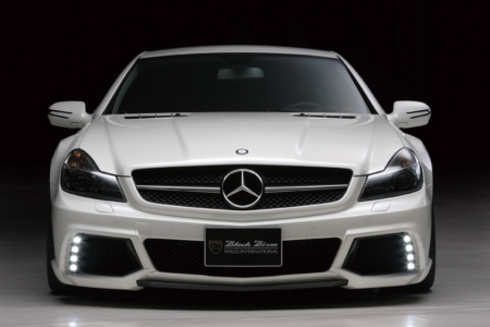 wald mercedes benz r230 sl500 sl550 sl55 sl63 black bison body kit front bumper led drl lamp light 2009 2010 2011 2012