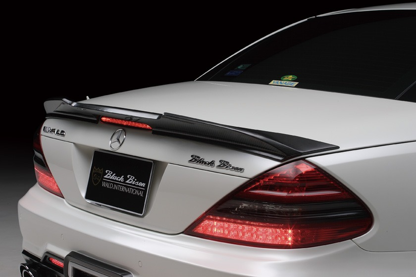 wald mercedes benz r230 sl500 sl550 sl55 sl63 black bison body kit trunk spoiler wing 2009 2010 2011 2012