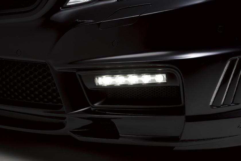 wald mercedes benz W212 e350 e550 e63 black bison body kit front bumper led drl lamp light 2010 2011 2012 2013
