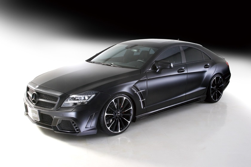 wald mercedes benz c218 w218 cls cls550 cls63 black bison body kit front 2012 2013 2014