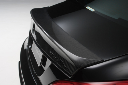 wald mercedes benz c218 w218 cls cls550 cls63 black bison body kit trunk wing spoiler 2012 2013 2014
