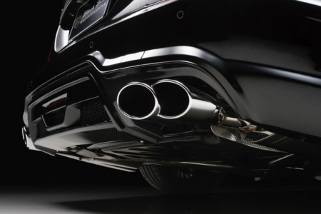wald mercedes benz c218 w218 cls cls550 cls63 black bison body kit exhaust tip sport exhaust 2012 2013 2014