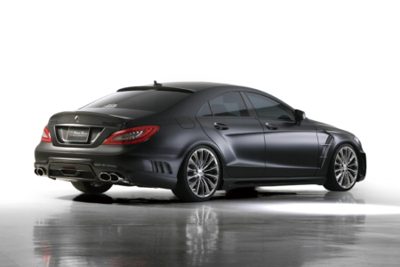 wald mercedes benz c218 w218 cls cls550 cls63 black bison body kit rear 2012 2013 2014