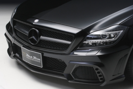 wald mercedes benz c218 w218 cls cls550 cls63 black bison body kit front bumper 2012 2013 2014