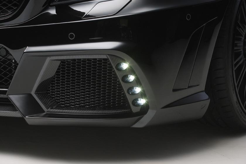 wald mercedes benz c218 w218 cls cls550 cls63 black bison body kit front bumper led light 2012 2013 2014