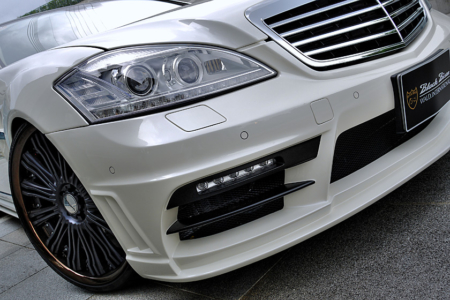 wald mercedes benz mbz w221 s550 s63 s65 black bison body kit front bumper white 2010 2011 2012 2013
