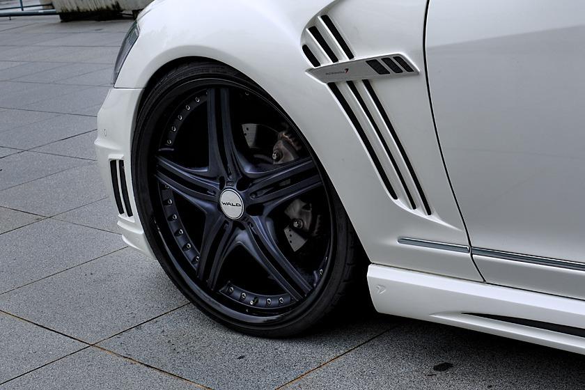 wald mercedes benz mbz w221 s550 s63 s65 black bison body kit sport fender white 2010 2011 2012 2013