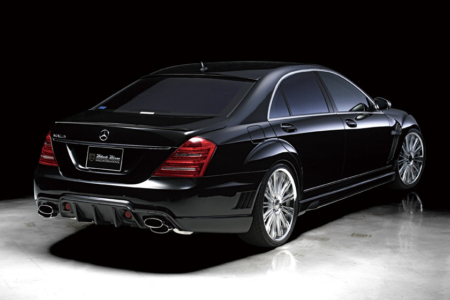 wald mercedes benz mbz w221 s550 s63 s65 black bison body kit rear 2010 2011 2012 2013